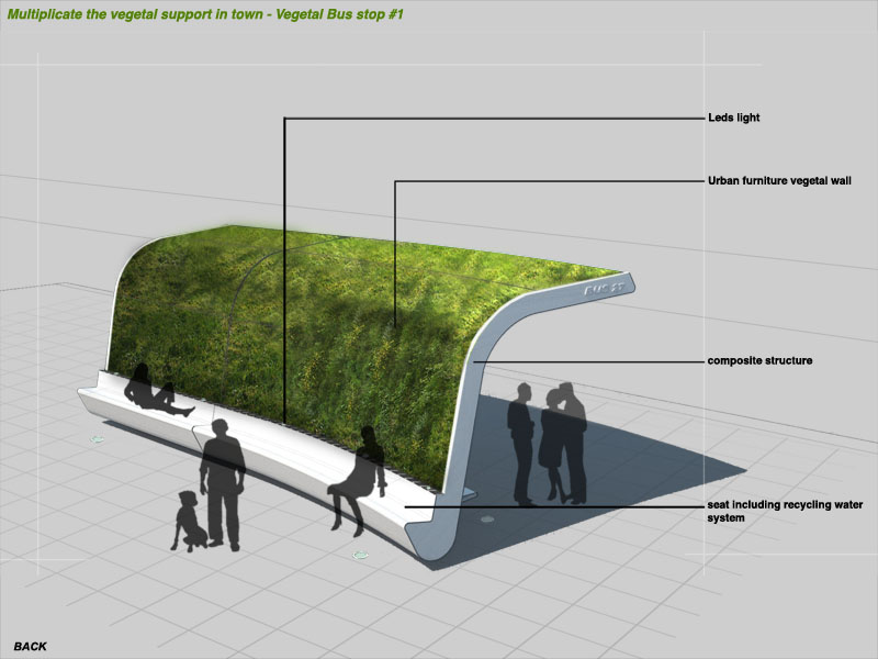 green bus stop design