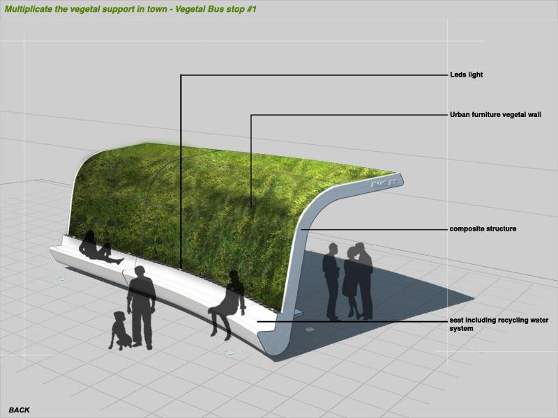 green bus stop design