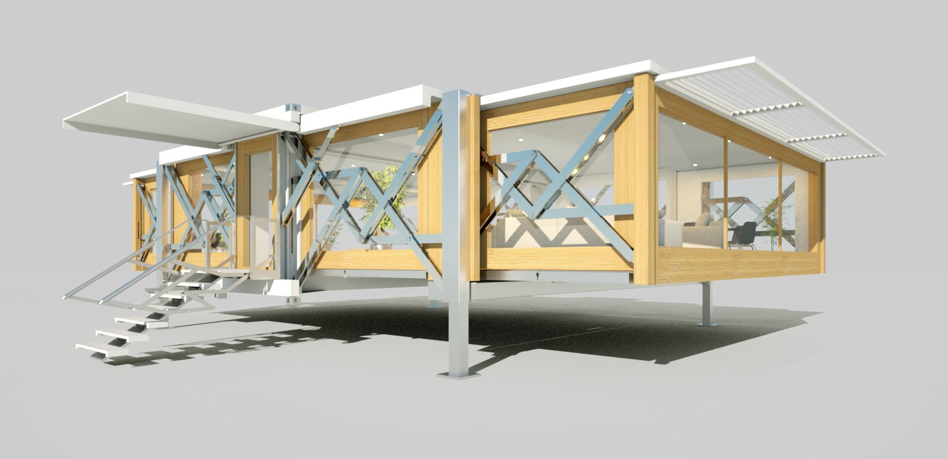 Floor Plans For Trailer Homes Ten Fold And The Mobile House Of The Future Urbanizehub