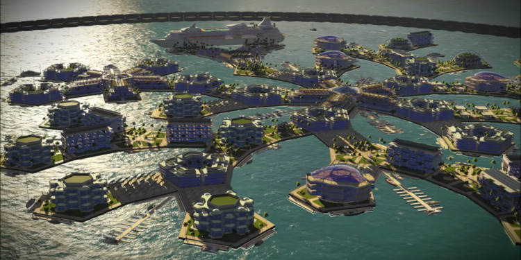 First floating city