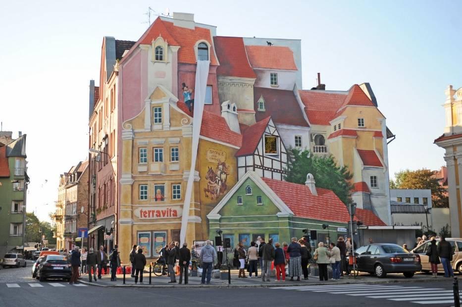 Poznan's 3D mural (Poznan,Poland)